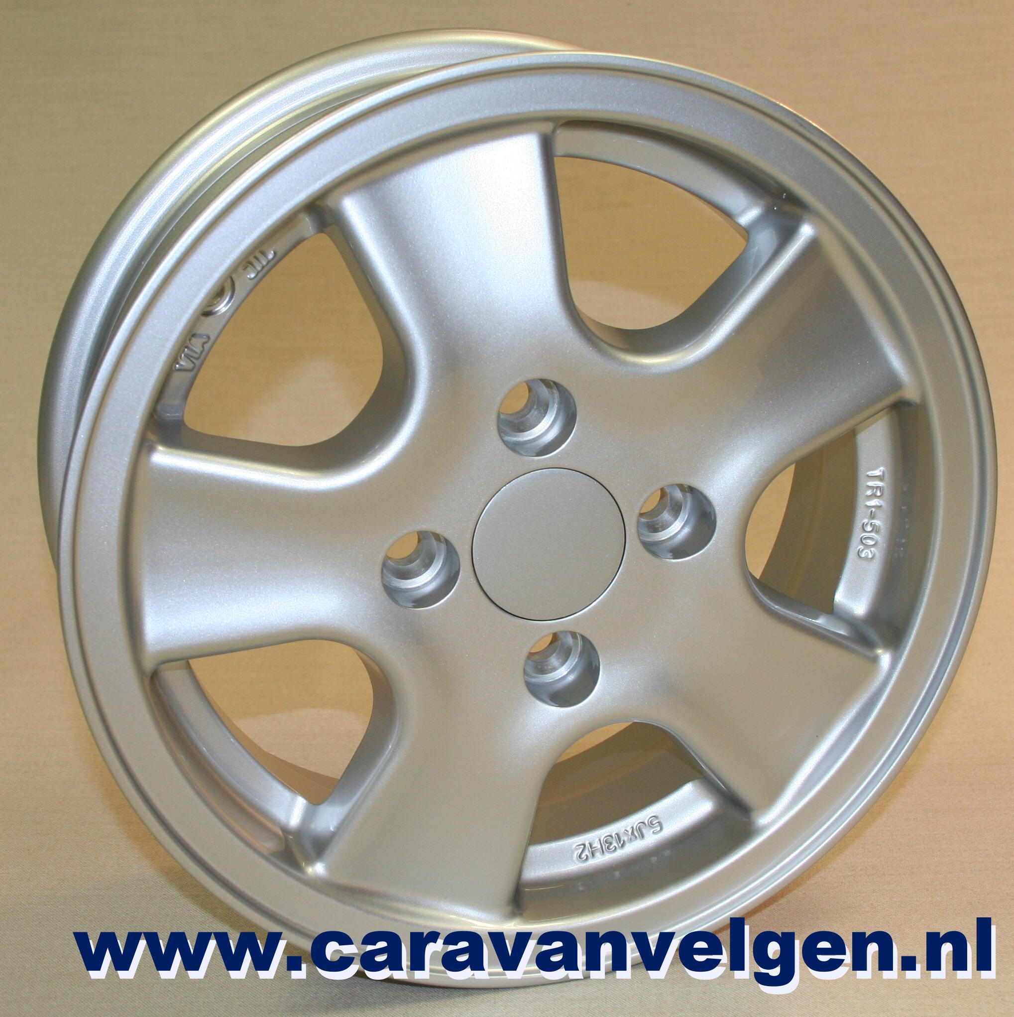 5jx13 4 Gats Aluminium Caravan Velg Model Tr1 503 Draaglast 800kg Aluminiumvelg